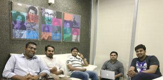 From Left - Co-Founders Keyur Bhalavat, Ravi Patel, Hiren Kanani , Jankar Rajpara, Alen Abraham