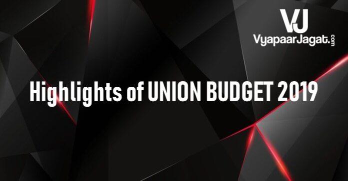 highlights of budget