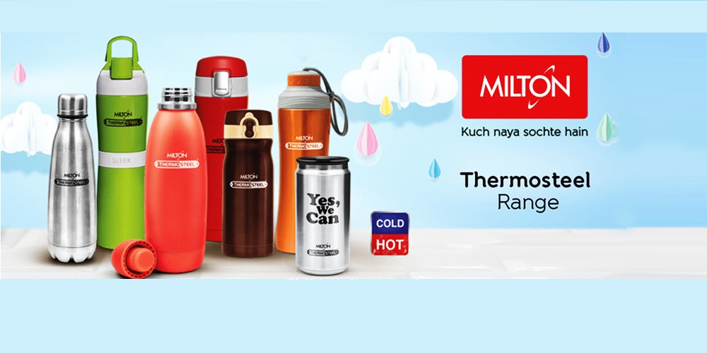 Milton is a premiere brand which offers products ranging from tiffin boxes and casserole to airtight jars and water bottles - Vyapaarjagat