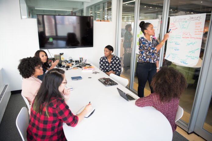 Women IT Technologists in a meeting