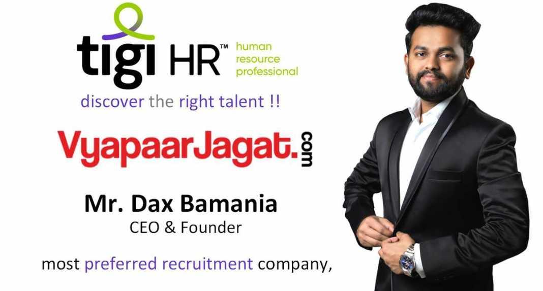 Dax Bamania CEO TIGI HR - vyapaarjagat