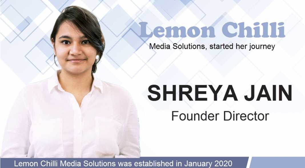 miss Shreya Jain: Lemon Chilli Media Solutions - vyapaarjagat